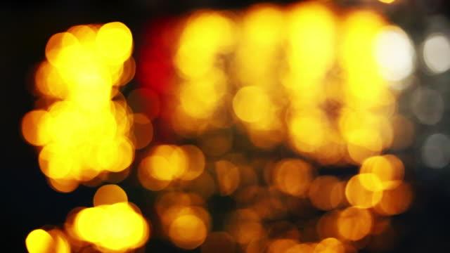 abstract circular bokeh lights at night in aberdeen, hong kong, china. - aberdeen hong kong stock videos & royalty-free footage