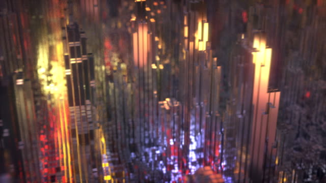 vidéos et rushes de abstract city aerial view - frolow