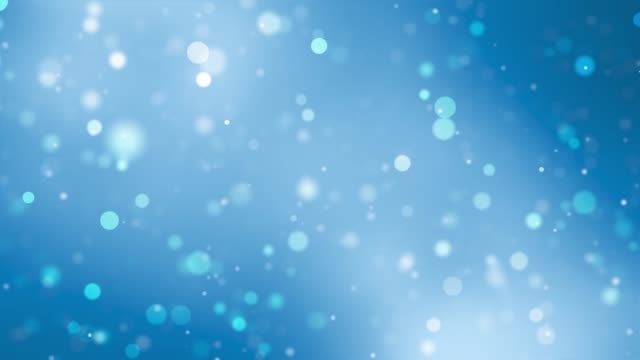 abstract clean blurred blue soft beautiful glitter dust tiny moving rising glitter bokeh particles soft loopable background - blue background stock videos & royalty-free footage
