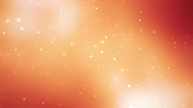 abstract clean blurred soft beautiful orange glitter dust tiny moving rising glitter bokeh particles soft loopable background - orange color stock videos & royalty-free footage