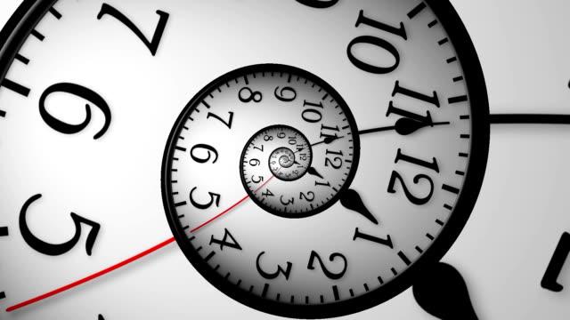 Orologio astratto Time Lapse