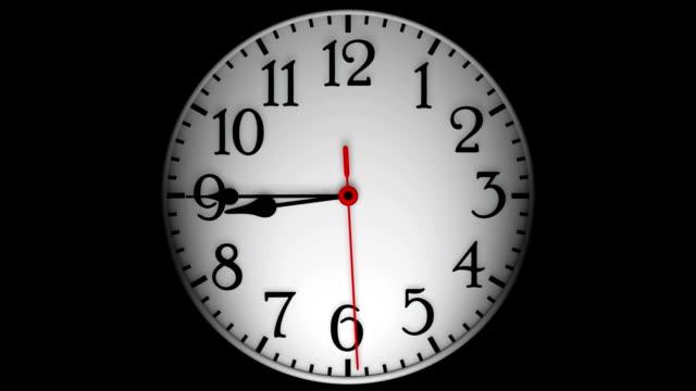 vídeos de stock, filmes e b-roll de abstrato-relógio - meia noite