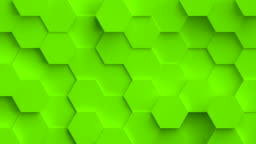 Abstract coloful background with 3D hexagons loop