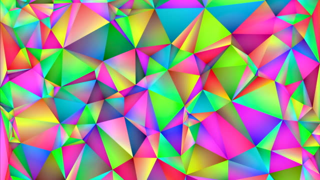abstract colorful and geometric shapes changing colors. - illusion stock videos & royalty-free footage