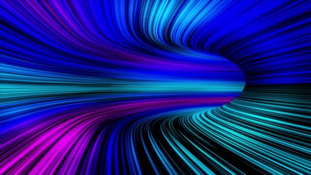 abstrakte bunte lichttunnel bewegung hintergrund looped animation - endlos film stock-videos und b-roll-filmmaterial