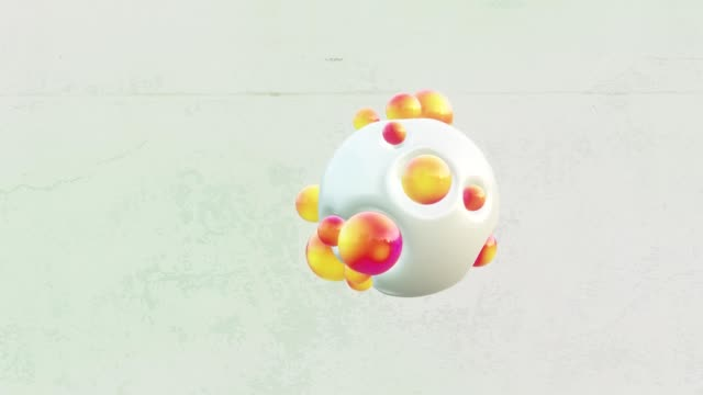 Abstract colorful spheres