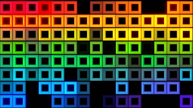 Abstrakte bunte quadratische Form Bewegung Hintergrund