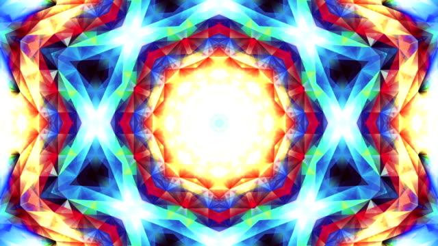 Abstrakte bunte Dreieck psychedelischen Kaleidoskop Muster Hintergrund Material