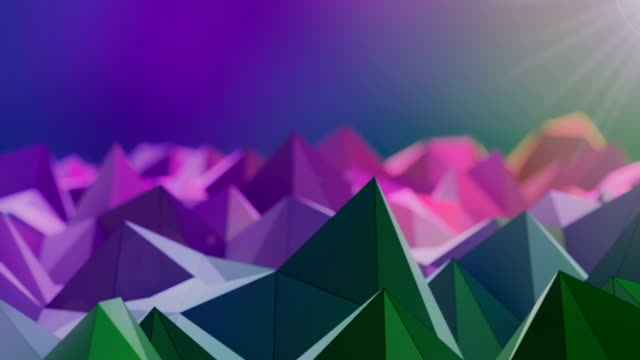 Abstract colorful triangle shape wave