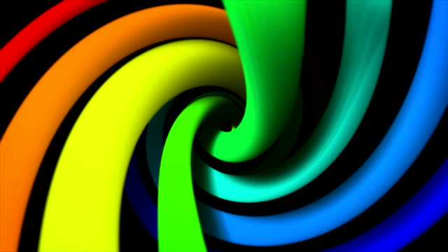 abstract colorful turning spiral motion background - spiral stock videos & royalty-free footage