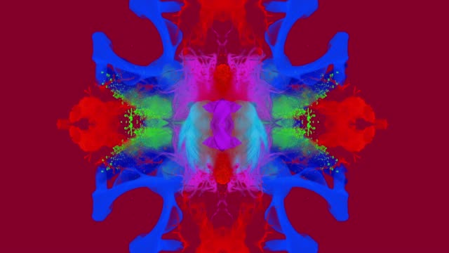stockvideo's en b-roll-footage met abstracte kleuren exploderende van de slowmotion - magenta