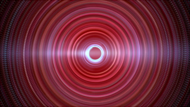 abstract concentric circles lights background - concentric stock videos & royalty-free footage