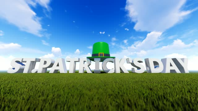 abstract concept for st's patrick day with green hat background - march month stock videos & royalty-free footage