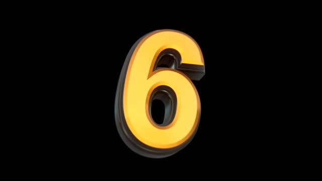 抽象的なカウントダウンアニメーション3dレンダリング - countdown点の映像素材/bロール