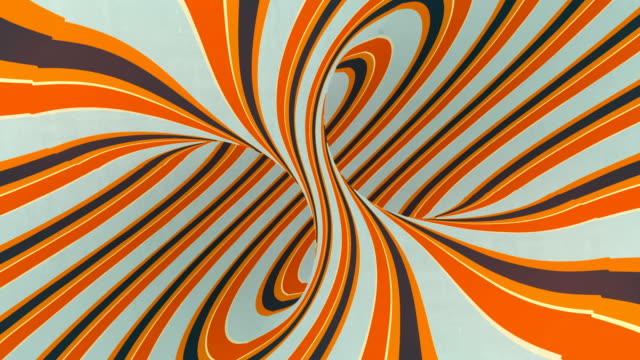 abstract creative hypnotic colored spiral fantasy optical illusion background. 3d rendering digital seamless loop animation. 4k, ultra hd resolution - optical illusion stock videos & royalty-free footage