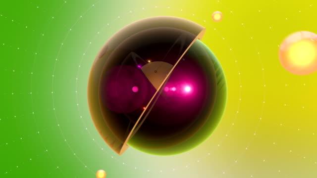 抽象断面複数の球と微小粒子の効果 - 舞踏会点の映像素材/bロール
