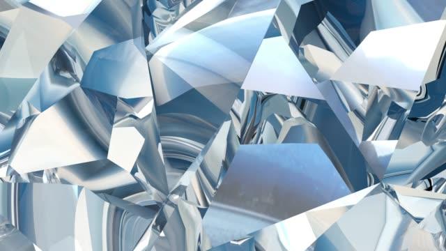 vidéos et rushes de abstrait géométrique crystal, une boucle d'animation 3d. - magazine