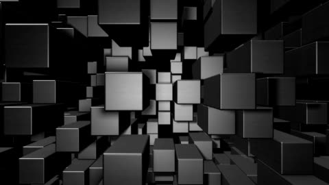 abstract cube animation - cube shape stock videos & royalty-free footage