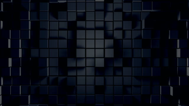 abstract cube background (loopable) - light effect stock videos & royalty-free footage