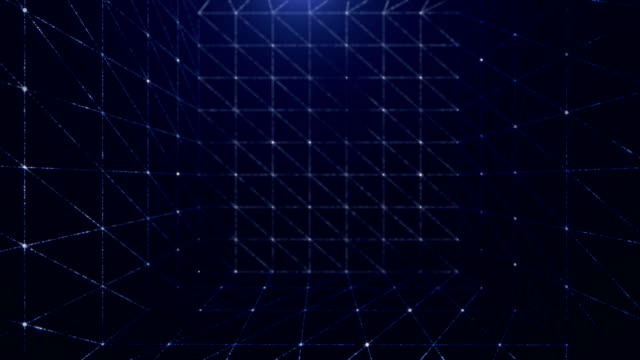 abstract cube background (loopable) - grid pattern stock videos and b-roll footage