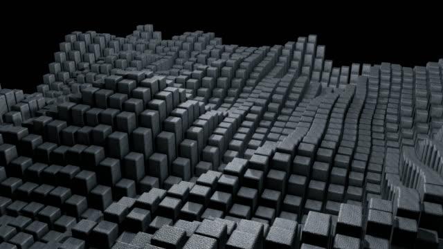 キューブの抽象的な背景 - 物の集まり点の映像素材/bロール