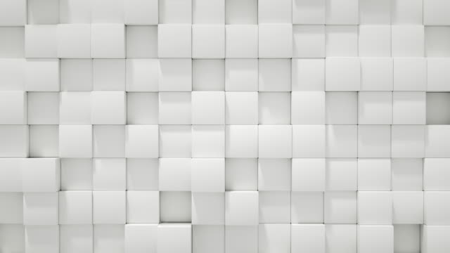 4k abstract cube block wall loopable - square stock videos & royalty-free footage