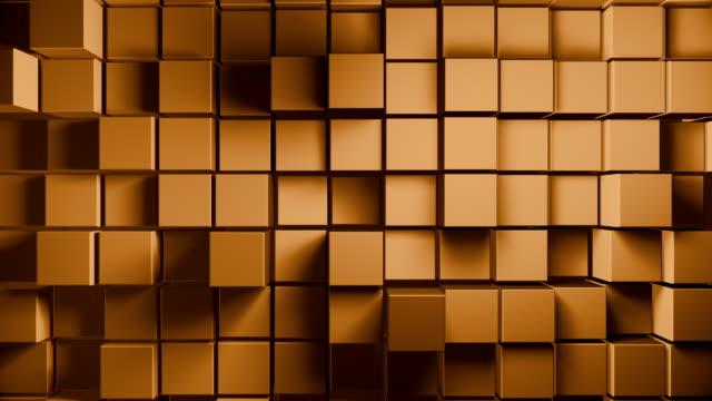 vidéos et rushes de formes de cube abstraites (en boucle) - carré forme bidimensionnelle