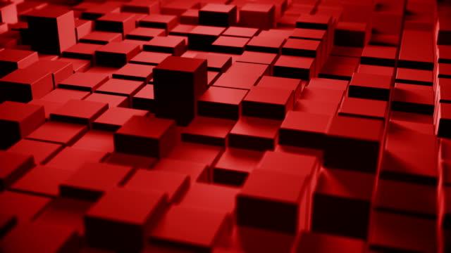vídeos y material grabado en eventos de stock de formas de cubo abstractas (loopable) - cubo recipiente