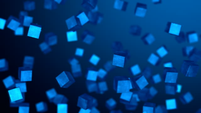 abstract cubes background - block shape stock videos & royalty-free footage