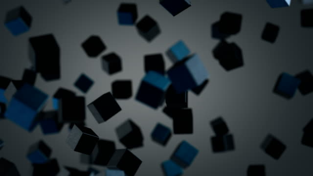 abstract cubes formation - cube stock videos & royalty-free footage