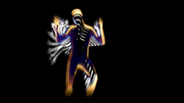 vídeos de stock, filmes e b-roll de dançarino abstrato ouro - espiritualidade