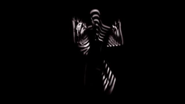 vídeos de stock e filmes b-roll de abstrato dançarino câmara lenta estroboscópica - extraterrestre