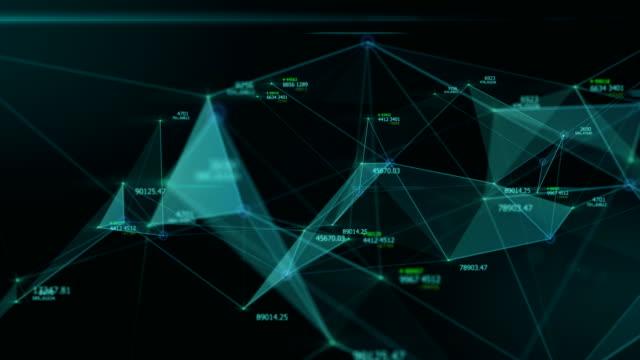 abstrakte daten und verbindung im cyber-space nach cyber-space technologiekonzept fliegen - dreidimensional stock-videos und b-roll-filmmaterial