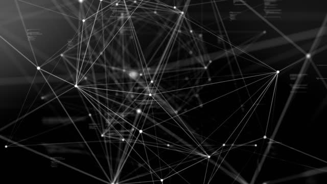 abstrakte daten und verbindung im cyber-space nach cyber-space technologiekonzept fliegen - gitter stock-videos und b-roll-filmmaterial