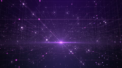 abstract data grid - loopable - technology, big data, digital innovation - purple - exchanging stock videos & royalty-free footage