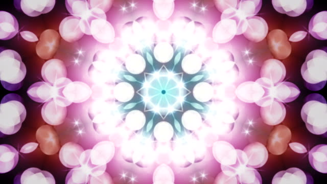 abstract decorative background loop - floral pattern stock videos and b-roll footage
