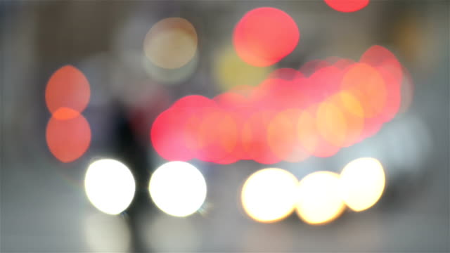 abstract defocused city lights - soft focus stock videos & royalty-free footage