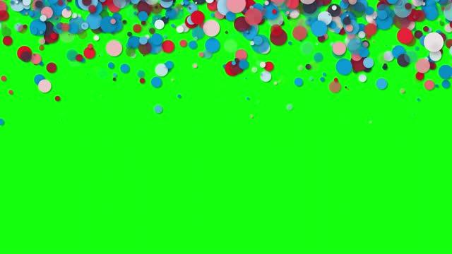 4k abstrakte defokussierte weiche partikel hintergrund - grüner bildschirm - kamera blitzlicht stock-videos und b-roll-filmmaterial
