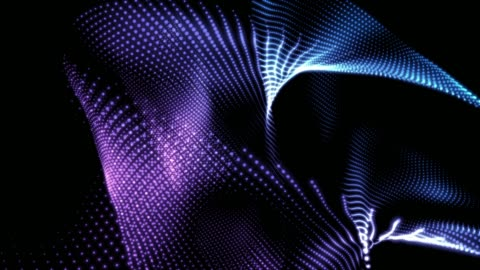 4k abstract digital background animation loopable elements, digital wave particles form concept - motion graphics stock videos & royalty-free footage