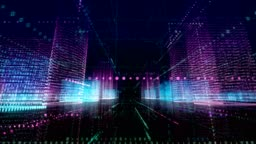 Abstract Digital City and echnology Loopable 4K