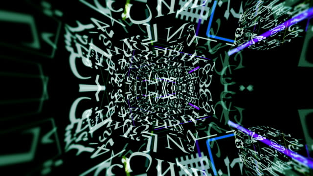 Abstract digital code forms pulse and shift.