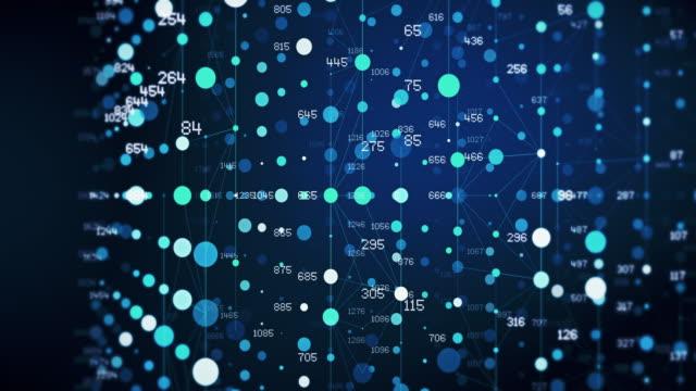 abstrakte digitale code-nummern im draht gitter hintergrund - unendlichkeit stock-videos und b-roll-filmmaterial
