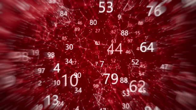 abstract digital connection moving dots, lines and numbers. abstract dof blurred counting numbers. artificial intelligence motion design.  the concepts of finance, game, internet, education, brainstorm, ai deep learning computer, brain, web, network - deep learning stock videos & royalty-free footage