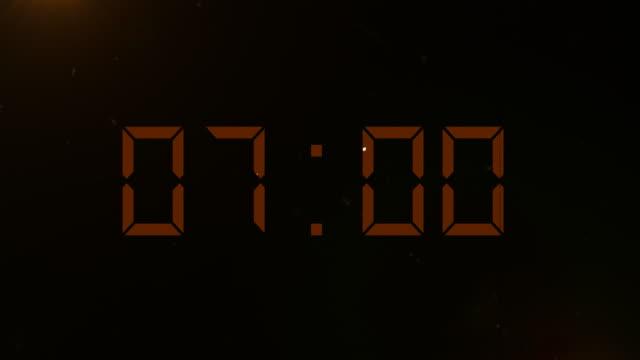 4k abstract digital countdown - digital clock stock videos & royalty-free footage