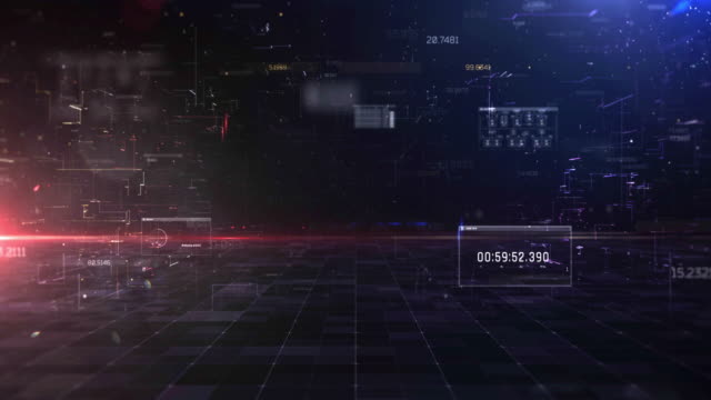 abstract digital cyber space motion background - big data video stock e b–roll