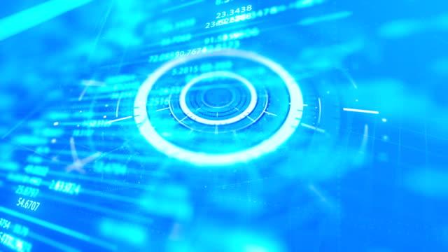 vídeos de stock, filmes e b-roll de fundo digital abstrato do movimento do espaço do cyber - alvo militar