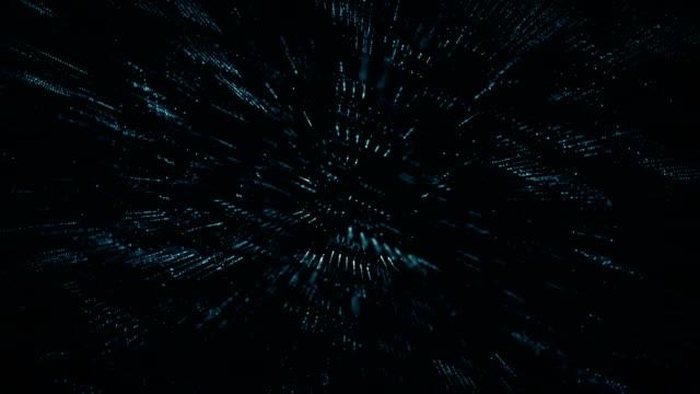 抽象デジタル サイバー スペース モーション背景 - 原子点の映像素材/bロール
