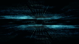 Abstract digital cyber space motion background