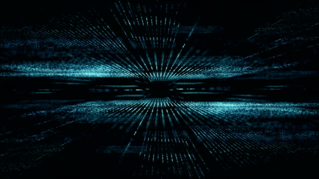 abstract digital cyber space motion background - information equipment stock videos & royalty-free footage