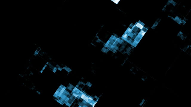 abstract digital data forms flicker, shift and pulse. - cubism stock videos & royalty-free footage